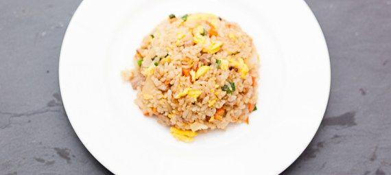 Stegte ris med bacon   ベーコン チャーハン   beekonn cyaahann