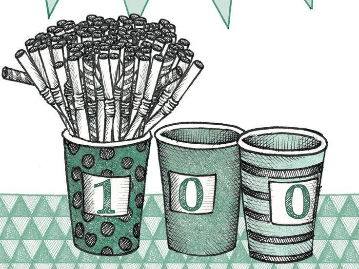 Start jij in januari ook met het 100-dagenrekenproject? Mét uitdagende opdrachten voor slimme kleuters!