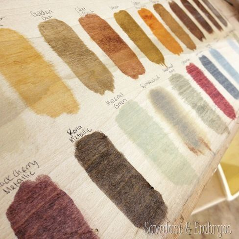 Wood stain shades by RustOleum {Sawdust and Embryos}