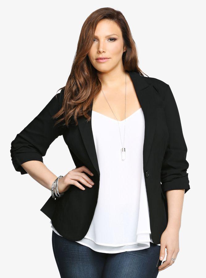 Plus Size Blazer - Plus Size Jacket
