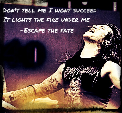 Escape the Fate lyric