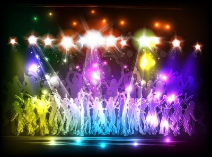 Licht Club partij en mensen dansen Stockfoto