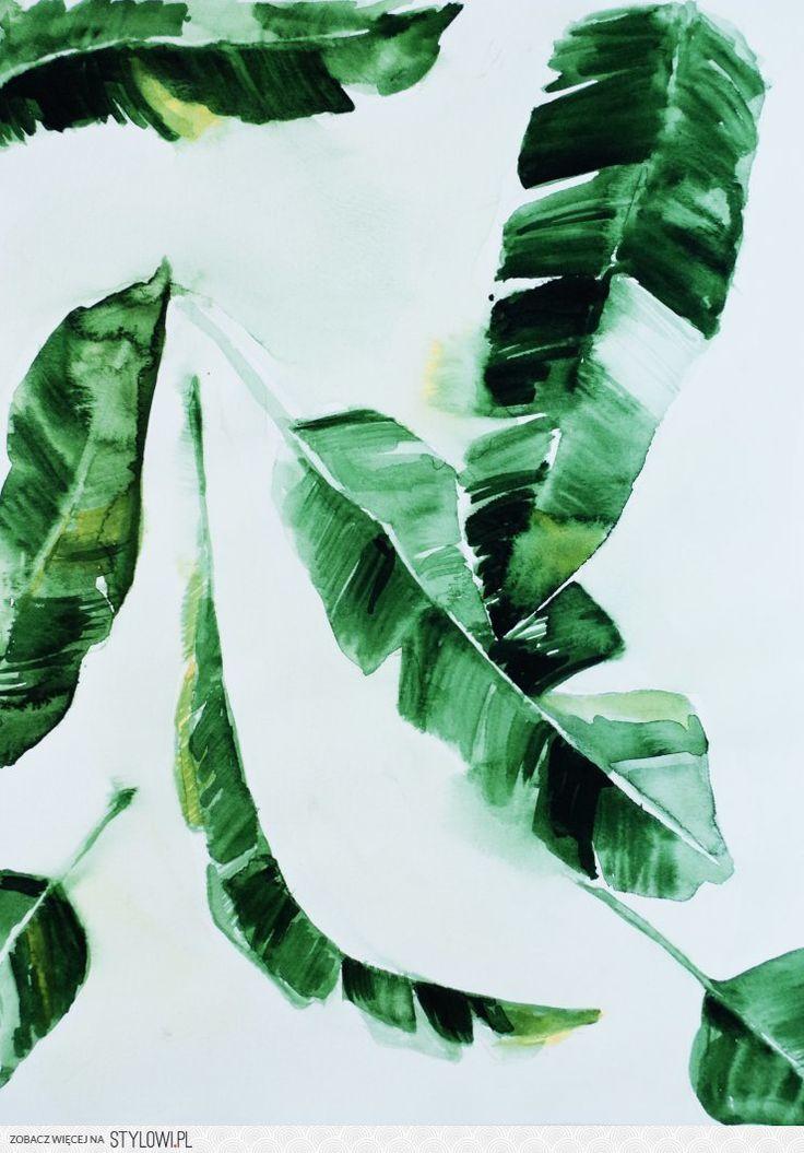 """""""Banana leaf"""" Obrazy proponowane tutaj są wspaniałym po… na Stylowi.pl"""