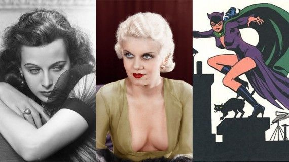 Ruth Steel Jean Harlow and Catwoamn 1940 570x320 The Real Life Inspirations Behind Some of the Best Comic Book Villains