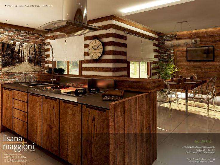 17 melhores ideias sobre cozinhas r sticas modernas no - Casas rusticas modernas fotos ...