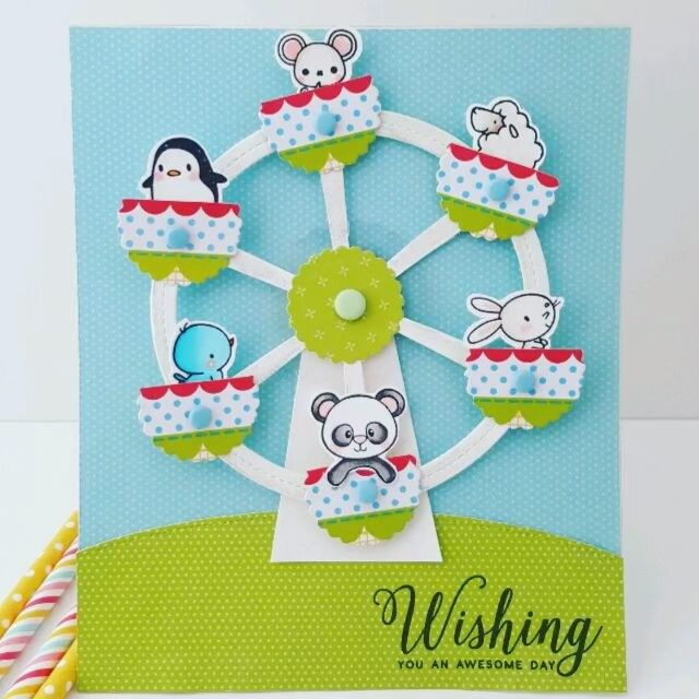 Hello my crafty friends! I made a fun interactive #ferriswheel with some of my…                                                                                                                                                                                 More