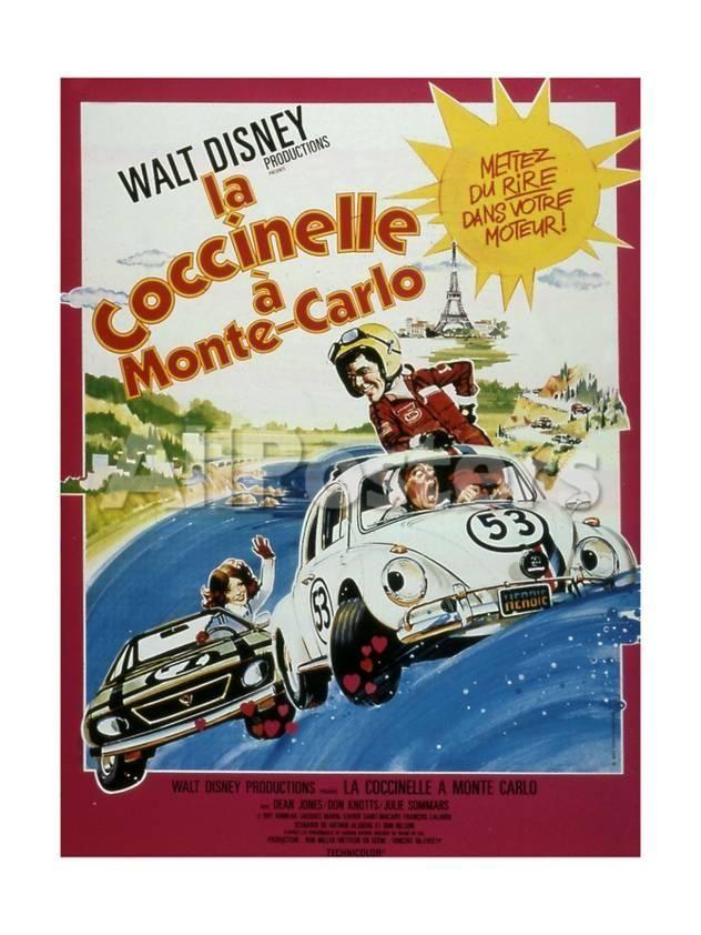 """Affiche Du Film """"La Coccinelle a Monte Carlo"""" 1977 Movies Art Print - 46 x 61 cm"""