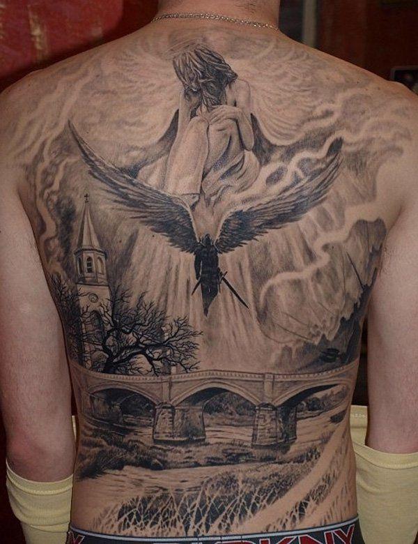 100 awesome back tattoo ideas tattoos ber den ganzen r cken tattoo m nner und r cken. Black Bedroom Furniture Sets. Home Design Ideas