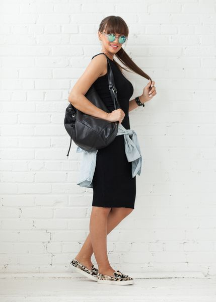 COVETED LOOK - Airplane Mode   Featured: Madison Knitted Tank Dress in black www.covetedbasics.com