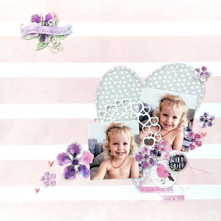 Papers and embellishments from Cocoa Vanilla Studio. Hand painted flowers from Heartfelt Creations Classis Rose