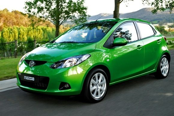 Green Mazda 2. I will have one someday!