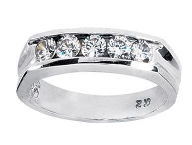 Amazon.com: 0.60 ct Men's Diamond Wedding Band Ring in 14KT White Gold in size 4.5: AGK Diamonds: Jewelry---$4000.00
