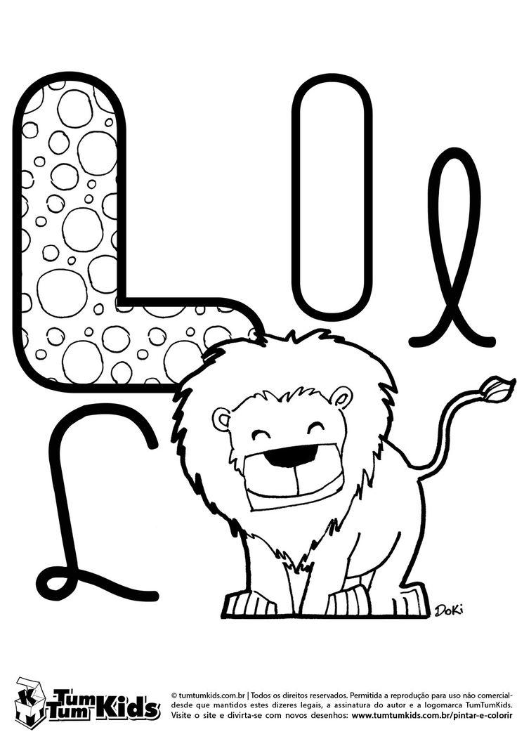Letra L de Leo escola Pinterest