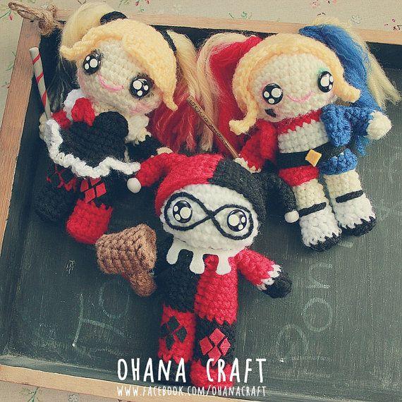 Suicide Squad inspired crochet dolls by OhanaCraftAmigurumi