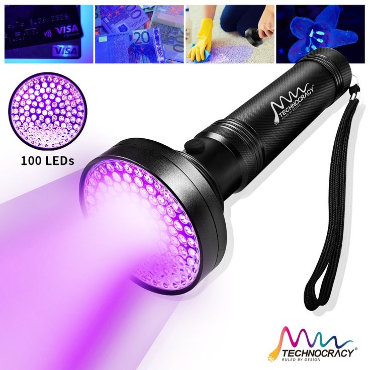 Best 25 black light flashlight ideas on pinterest neon facts technocracy uv black light flashlight100 led 395 nm ultraviolet blacklight detector for dog urine aloadofball Images