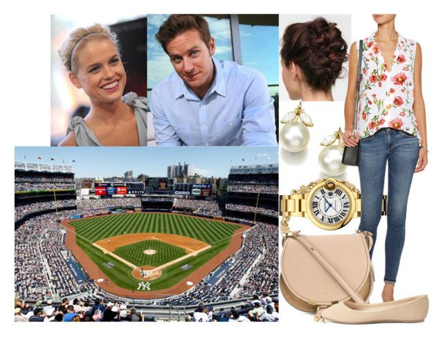 """""""Attending the 2008 Major League Baseball All-Star Game at Yankee Stadium with Paul and his younger sister, Alice"""" by swedish-princess ❤ liked on Polyvore featuring Equipment, Chloé and Charlotte Russe"""