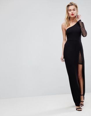 66385e517cd8 ASOS Dobby One Sleeve Maxi Dress
