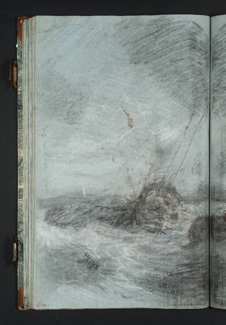 Joseph Mallord William Turner: Composition Study for a Sea Piece, with Small Boats in Choppy Water c.1799–1805