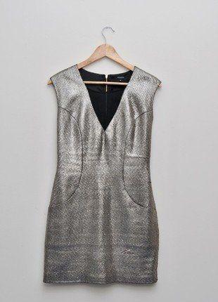 Kup mój przedmiot na #vintedpl http://www.vinted.pl/damska-odziez/krotkie-sukienki/15378284-zjawiskowa-zlota-sukienka-reserved-rozmiar-36