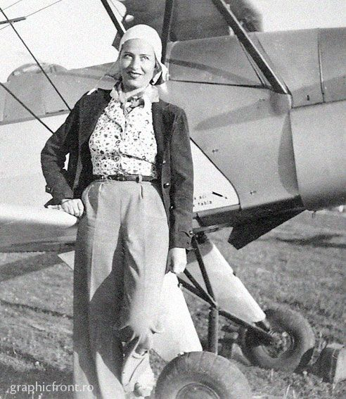 Irina Burnaia, Irina Burnaia (n. 1909 - d. 1997), Romanian aviator, the first woman who flew over the Carpathian Mountains, first woman pilot who carried out intercontinental raids and the country's first female acrobat pilot.