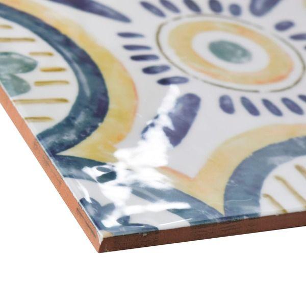 SomerTile 7.75x7.75-inch Borough Isola Ceramic Wall Tile (Case of 25)