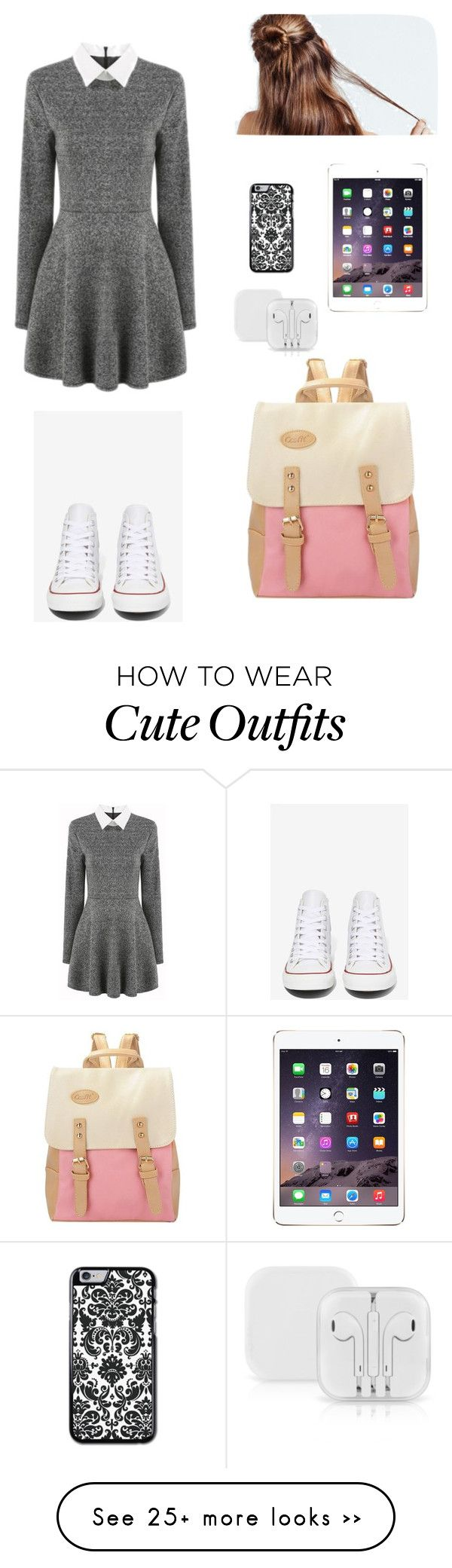 """school outfit"" by natalianunez053 on Polyvore featuring mode en Converse"