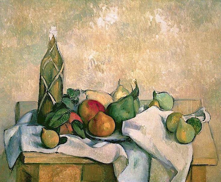 Paul Cézanne - Still-Life with Bottle of Liqueur. See The Virtual Artist gallery: www.theartistobjective.com/gallery/index.html