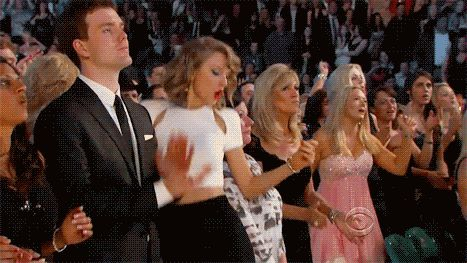 The fact that Taylor fangirls over celebrities and other artists is everything. Everyone else just claps..