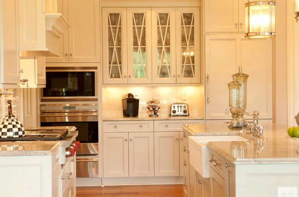 20 Gorgeous Glass Kitchen Cabinet Doors