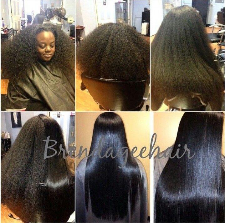 Long Natural Hair Blow Out Amp Flat Iron Natural Beauty