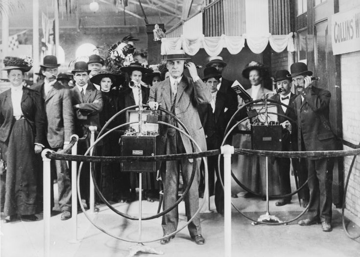 All the newest gadgets — at the Ex! This is the Collins Wireless Telephone exhibit from 1909.... it'll never catch on! Courtesy: Toronto Public Library's Digital Archive