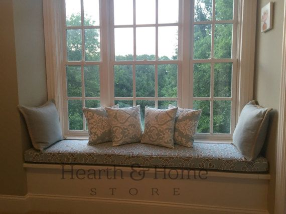 custom window seat cushion mudroom cushion by