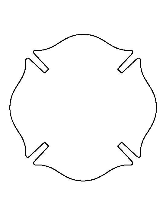 fireman badge pattern use the printable outline for crafts creating stencils scrapbooking. Black Bedroom Furniture Sets. Home Design Ideas