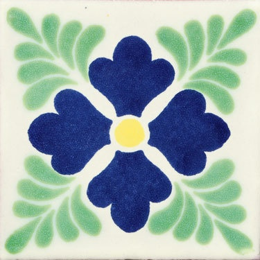 "12 Ceramic Decorative Folk Art 4x4"" Mexican Tile C162"