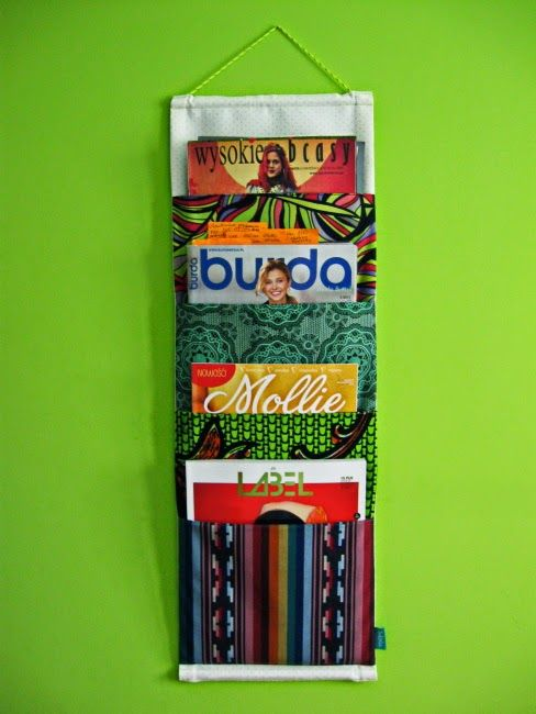 lukola handmade: Kieszonki na gazety // Wall pockets for newspapers...