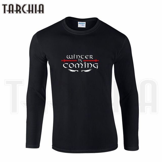 Special price TARCHIIA Brand Eur Size Long Sleeve Tee Game of Thrones Winter Is Coming STARK Print Men's T-Shirt 100% Cotton Plus Size Homme just only $12.47 with free shipping worldwide  #tshirtsformen Plese click on picture to see our special price for you