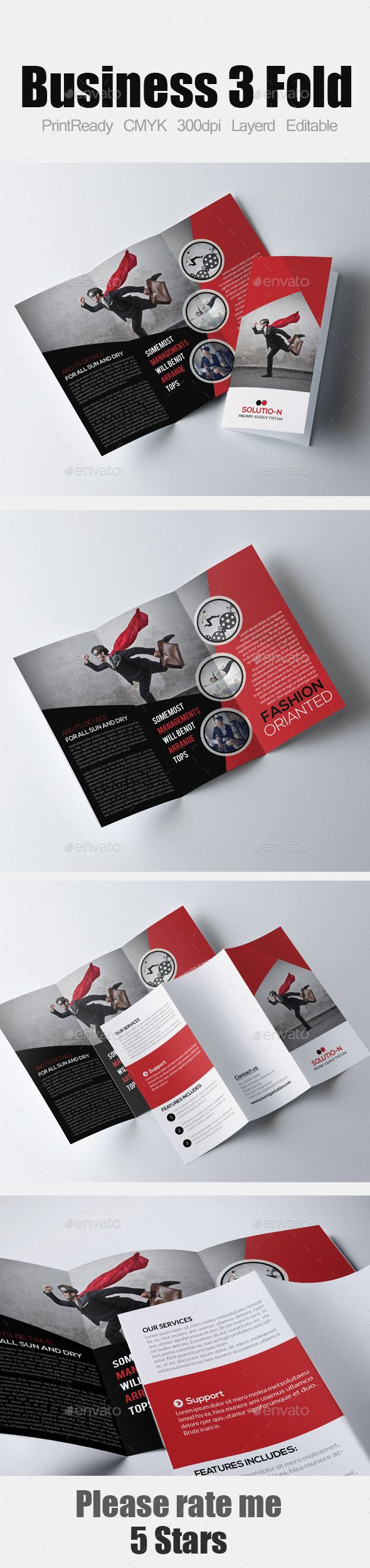Tri Fold Business Brochure Template #design Download: http://graphicriver.net/item/tri-fold-business-brochure/12151563?ref=ksioks