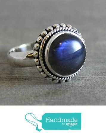 11mm Round Cabochon Labradorite Sterling Silver Ring, size 7 from Sophia Rose Jewellery https://www.amazon.com/dp/B01LZDNPJD/ref=hnd_sw_r_pi_dp_yIJ.xbDHAHP6V #handmadeatamazon
