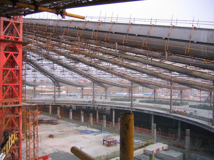 Shanghai South Station construction - AREP / MaP3 - 2004