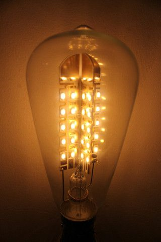 1000+ images about Ithaca Lighting on Pinterest   Vintage style ...:Dimmable LED light bulbs. Vintage style tear drop light bulb. Clear bulb -  Fat,Lighting