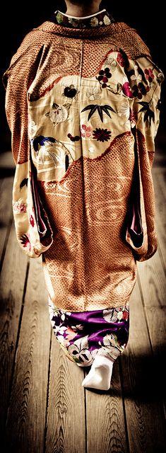 Japanese antique kimono 着物