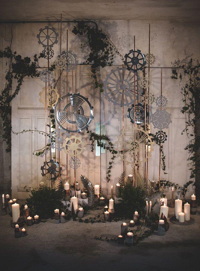 Moody Industrial Wedding Inspiration | Green Wedding Shoes Wedding Blog | Wedding Trends for Stylish +  Creative Brides