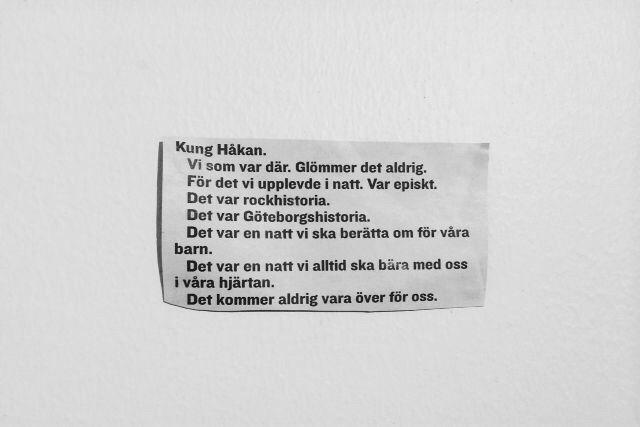 Det kommer aldrig va över för oss. Håkan Hellström på Ullevi.
