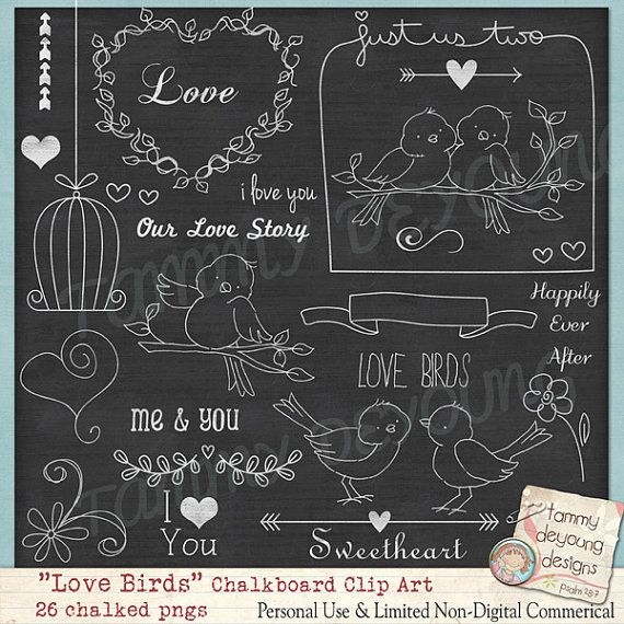 Hey, I found this really awesome Etsy listing at https://www.etsy.com/listing/176894901/chalkboard-art-wedding-love-birds-clip
