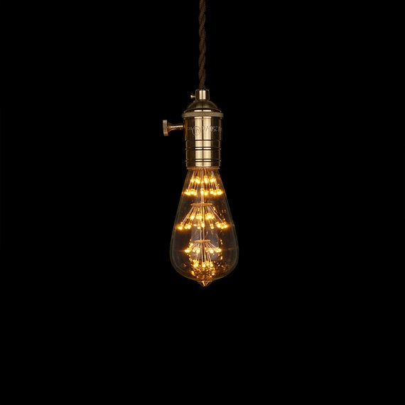 Inspired by the historical squirrel cage design, a new version LED Edison bulb is now available with LED vertical filaments surrounding a central pillar. It perfectly creates a mixture of vintage and modern style at your home and also serves much longer lighting hours.  - brand new light bulb and packed with factory box - Clear Glass - Medium E27 Base - 110V - 220V - 3W (=traditional filaments bulb 30W) - 64mm x 138mm - 25000 hours  I offer worldwide delivery. It usually takes 10-14 days…