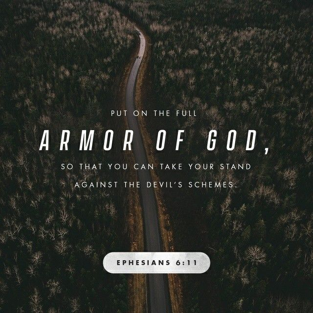 #do you have your Armour on? Put on the whole armour of God, that ye may be able to stand against the wiles of the devil.  Ephesians 6:11 KJV  https://bible.com/bible/1/eph.6.11.KJV