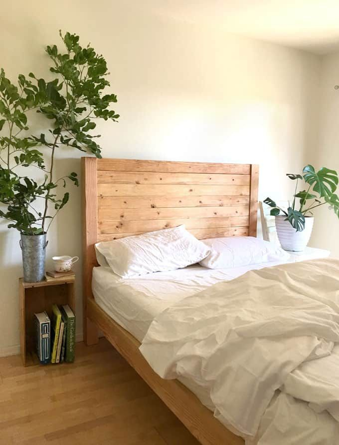Diy Bed Frame Wood Headboard 1500 Look For 100 With Images