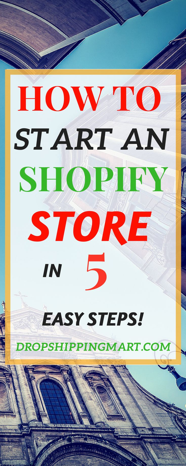 How to start an shopify store in 5 easy steps. Easy ways to start a drop shipping stores . Check it out