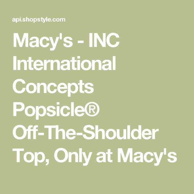 Macy's - INC International Concepts Popsicle® Off-The-Shoulder Top, Only at Macy's