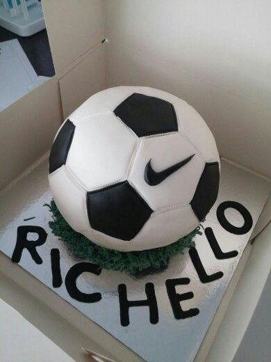 Nike Football Cake- by Sugarss   https://m.facebook.com/Sugarssnl